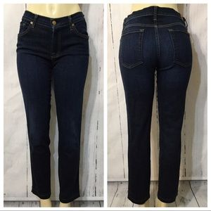 7 For All Mankind Slim Cigarette Ankle Jeans 31